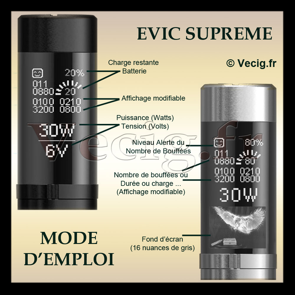 Mode d 39 emploi mod supreme evic cigarette electronique for Alarme verisure mode d emploi